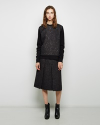Proenza Schouler Slub Tweed Skirt Black