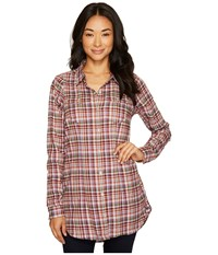 Toadandco Lightfoot Tunic Purple Thistle Long Sleeve Button Up Pink