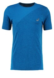 Asics Sports Shirt Thunder Blue Heather
