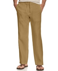 Tasso Elba Big And Tall Pants Linen Drawstring Pants Safari Tan