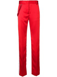 Msgm Chain Embellished Tailored Trousers