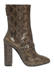 N 21 100Mm Elaphe Snakeskin Ankle Boots