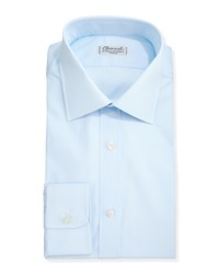 Charvet Solid Poplin Dress Shirt Light Blue