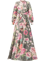 Alexis Mabille Long Floral Gown Multicolour