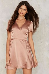 Glamorous Have You Ever Mini Dress Mocha