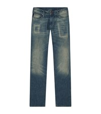 Armani Jeans Slim Fit Washed Male Blue