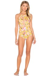 Beach Riot Golden One Piece Yellow