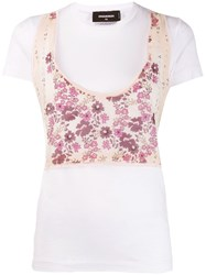 Dsquared2 Floral Panelled T Shirt 60