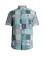 Faherty Coast Cotton Patchwork Shirt Green Multi