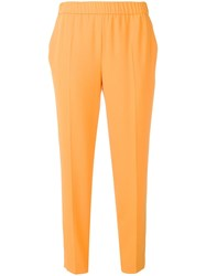 Escada Slim Fit Trousers Orange