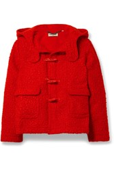 Opening Ceremony Hooded Shearling Jacket Red