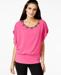Joseph A Crystal Embellished Dolman Sleeve Top Lilac Rose
