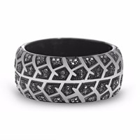 Lmj Born Drifter Band Ring Black Silver