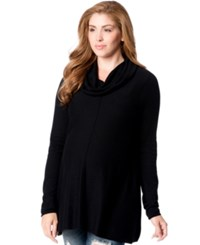 Motherhood Maternity Cowl Neck Sweater Black