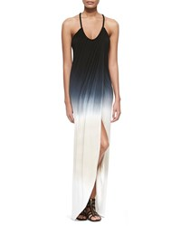 Young Fabulous And Broke Lexie Ombre Slub Maxi Dress Black Tan