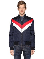 Dsquared Striped Nylon Bomber Style Down Jacket