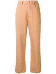 Golden Goose Deluxe Brand Straight Leg Trousers Brown