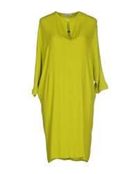 Roberto Collina Dresses Knee Length Dresses Women Acid Green