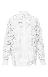 N 21 No. White Large Scale Lace Button Up Shirt