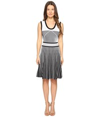 Prabal Gurung Sleeveless Knit Fit And Flare Black White