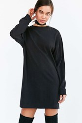 Bdg Maeby Oversized Long Sleeve T Shirt Dress Black