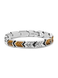 David Yurman Chevron Woven Bracelet With Tigers Eye No Color