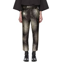 Haider Ackermann Black Silk Skinny Leg Trousers