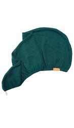 Aquis Limited Edition Lisse Luxe Hair Turban In Emerald.