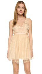 Free People Deja Vu Mini Dress Rose Gold