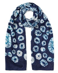 East Silk Bandhini Scarf Blue
