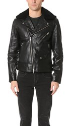 Rag And Bone Buzz Moto Jacket Black