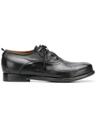 Silvano Sassetti Creased Lace Up Shoes Black