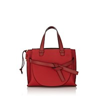 Loewe Gate Small Leather Satchel Red