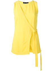 Proenza Schouler Sleeveless Wrap Top Yellow Orange