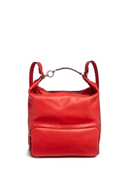 Marni 'Backpack' Convertible Leather Bag Red