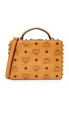 Mcm Berlin Cross Body Bag Cognac