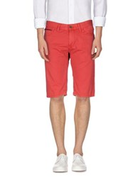 Tommy Hilfiger Denim Trousers Bermuda Shorts Men Red