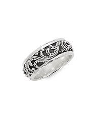 Lois Hill Sterling Silver Patterned Ring