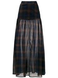 Andrea Marques Check Long Skirt Multicolour