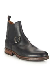 Frye Wilson Engineer Leather Chelsea Boots Black