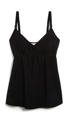 Ingrid And Isabel Maternity Drop Cup Nursing Cami Black