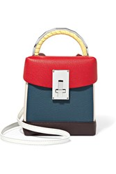 The Volon Lunchbox Color Block Textured Leather Shoulder Bag One Size