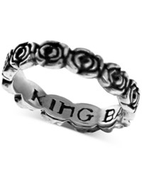 King Baby Studio Rose Band In Sterling Silver