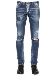 Dsquared 17.5Cm Slim Ripped Denim Jeans