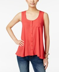 Styleandco. Style And Co. Swing Sleeveless Blouse Only At Macy's Dark Rose