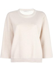 Agnona Loose Fit Jumper Nude Neutrals