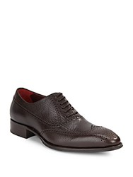 Mezlan Lugano Wingtip Leather Oxfords Brown