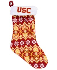 Forever Collectibles Usc Trojans Ugly Sweater Knit Team Stocking Red