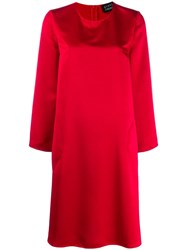 Gianluca Capannolo Long Sleeved Shift Dress Red