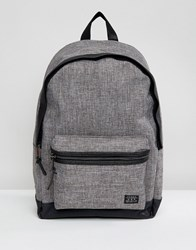 New Look Backpack In Grey Chambray Mid Grey